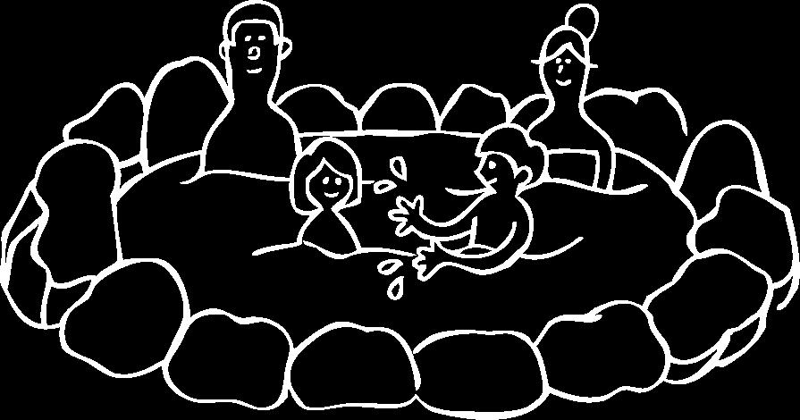 家族湯 つばきのイラスト