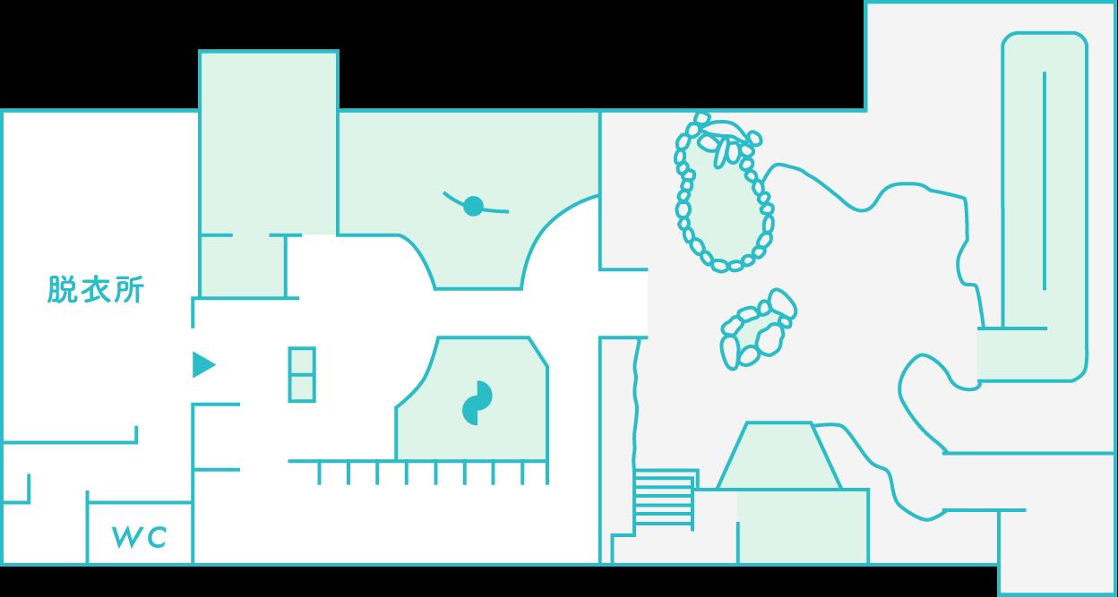 和風浴場のマップ