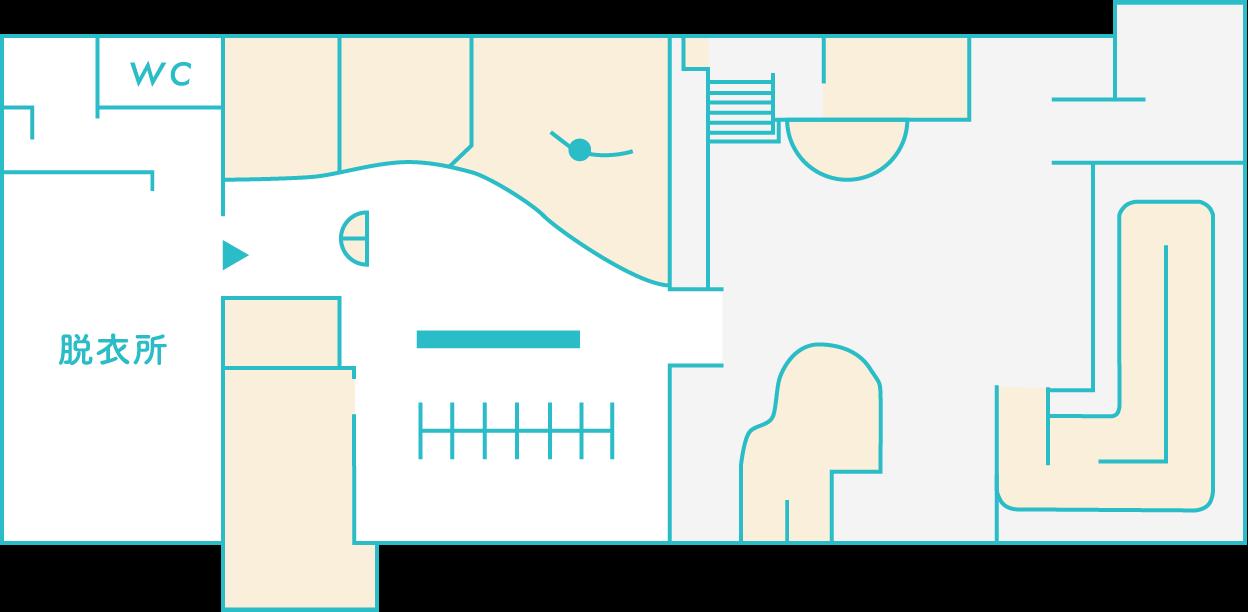 洋風浴場のマップ