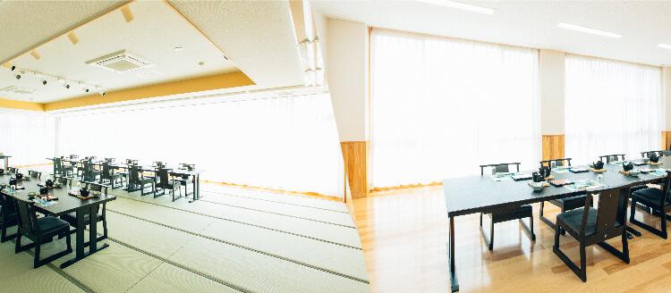阿蘇外輪山を眺めることができる宴会場